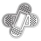 Adhesive bandages icon. Sticker of adhesive bandages crossed icon over white background. vector illustration Stock Photo