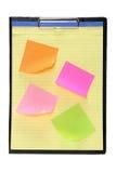 adhesive clipboardanmärkningspapperen Royaltyfri Foto