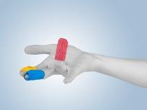 Adhesive Healing plaster on finger. Stock Image