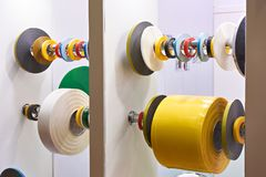 Adhesive insulating tape PVC. At exhibition Royalty Free Stock Photos