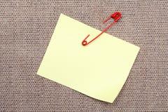 adhesive notatki szpilki bezpieczeństwo Obraz Royalty Free