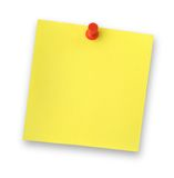 Adhesive note. Blank adhesive note note against white background, gentle shadow behind Stock Photography