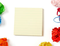 Adhesive note on desk Royalty Free Stock Photo