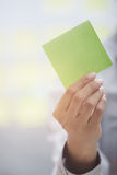 Adhesive note with emplty space Stock Images