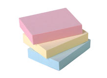 Adhesive note pads Royalty Free Stock Photos