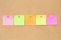 Adhesive Note Papers Stock Images