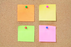 Adhesive Note Papers Stock Photo