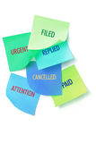 Adhesive Note Papers with Messages Royalty Free Stock Image