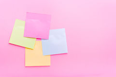 Adhesive note post color Royalty Free Stock Images