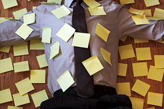 Adhesive note reminder overload Royalty Free Stock Images