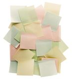 Adhesive notes Stock Photography