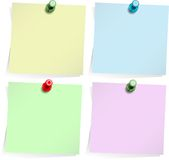 Adhesive notes isolated on white Stock Images