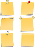 Adhesive notes. On white background vector Stock Image