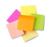 Adhesive notes Royalty Free Stock Photo