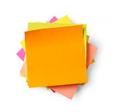 Adhesive notes Stock Images