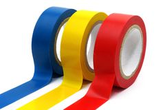 Adhesive rollers. For do-it-yourself and electricity Royalty Free Stock Images