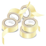 Adhesive tape. Rolls of adhesive tape, isolated object on white background, office illustration Royalty Free Stock Images