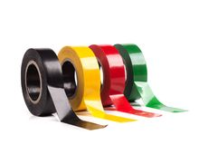 Adhesive tape. Colorful adhesive tape isolated on white Stock Photography