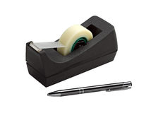 Adhesive Tape Dispenser And Pen Stock Photos