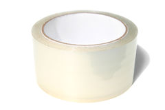 Adhesive tape. Roll of transparent adhesive tape. Isolated on white background Royalty Free Stock Images