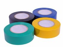 Adhesive tape rolls-clipping path Royalty Free Stock Photos