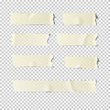 Adhesive tape set  on transparent background. Vector realistic illustration. Royalty Free Stock Images