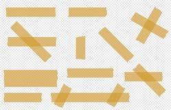 Adhesive tape transparent  pieces  vector set. Adhesive tape transparent  pieces  vector tape set isolated Stock Photos