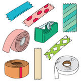 Adhesive tape. Vector set of adhesive tape stock illustration