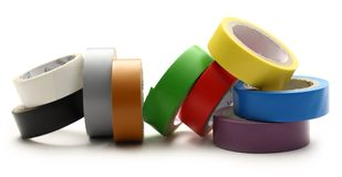 Adhesive tape. On the white background stock image