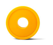 Adhesive tape on white Royalty Free Stock Photography