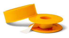 Adhesive tape on white Stock Photo