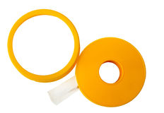Adhesive tape on white Stock Photography