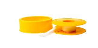 Adhesive tape on white Royalty Free Stock Image