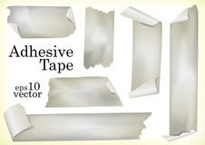 Adhesive Tapes. A Set of Vector Illustrations of Adhesive Tapes Royalty Free Stock Images