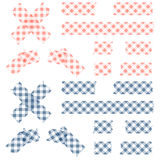 Adhesive tapes checkered Stock Photo