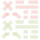 Adhesive tapes dotted Stock Image