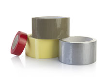 Adhesive tapes. Isolated on white background with clipping path included Stock Images