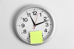 adhesive zegaru notatka zdjęcie royalty free