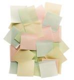 Adhezyjne notatki Fotografia Stock