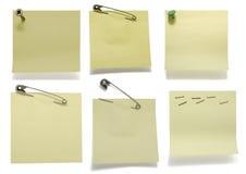 Adhezyjne notatki obrazy royalty free