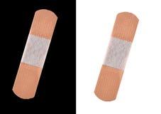 adhezyjnego bandaży czerń odosobniony biel fotografia royalty free