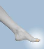 Adhezyjny bandaża tynk na fonger. Fotografia Stock