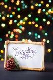 Adiós 2016 con el bokeh colorido de la estrella Foto de archivo libre de regalías