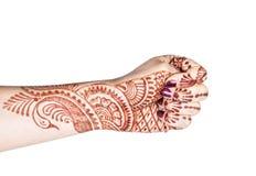 Adi mudra z henną zdjęcia stock