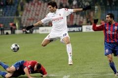 Adi Mutu. Adrian Mutu, Petre Marin and Eugen Baciu playing Steaua Bucharest-Fiorentina match Stock Image