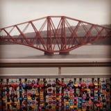 Adiante cruzamento do trilho, Edimburgo, Escócia imagens de stock