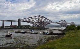 Adiante a ponte do trilho em Escócia é um local do patrimônio mundial do UNESCO Foto de Stock