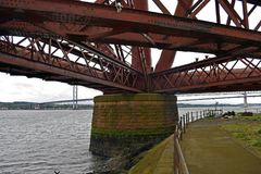 Adiante a ponte do trilho em Escócia é um local do patrimônio mundial do UNESCO Imagem de Stock
