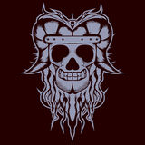 Adiatonic Skull Shirt Design Stock Photography