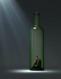 Adicción al alcohol stock de ilustración